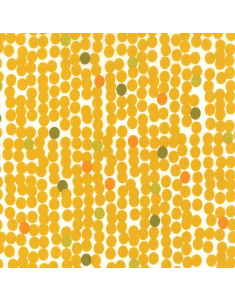 PD's Moda Collection Fragile, Big Dots in Chalk Mustard, Dinner Napkin