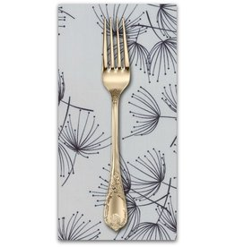 PD's Moda Collection Fragile, Dandelion in Zen Grey, Dinner Napkin