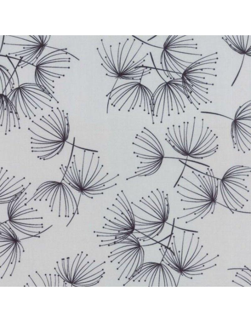 PD's Moda Collection Fragile, Dandelion in Zen Grey, Dinner Napkin
