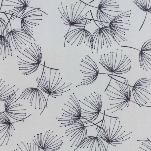 Zen Chic Fragile, Dandelion in Zen Grey, Fabric Half-Yards 1630 15