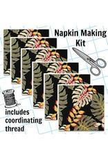 Picking Daisies Dinner Napkin Kit: Sevenberry Island Paradise in Black