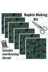 Picking Daisies Dinner Napkin Kit: Sevenberry Island Paradise in Navy
