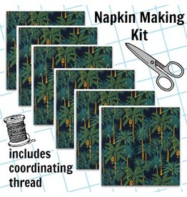 Picking Daisies Dinner Napkin Kit: Sevenberry Island Paradise in Navy