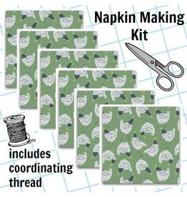 Picking Daisies Dinner Napkin Kit: Garden Sanctuary, Chickens in Shamrock