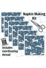 Picking Daisies Dinner Napkin Kit: Garden Sanctuary Frolic, Bunny Hop in Riviera