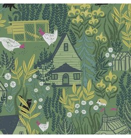 Rae Ritchie Garden Sanctuary, Garden Sanctuary in Eden, Fabric Half-Yards STELLA-SRR857