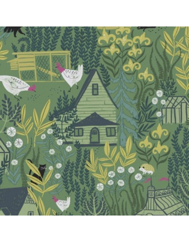 Rae Ritchie Garden Sanctuary, Garden Sanctuary in Eden, Fabric Half-Yards STELLA-SRR857