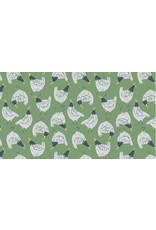 PD's Rae Ritchie Collection Garden Sanctuary, Chickens in Shamrock, Dinner Napkin