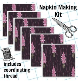 Picking Daisies Dinner Napkin Kit: Magik Sanctuary, Foxglove in Blackberry