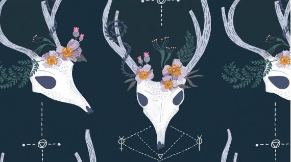 PD's Rae Ritchie Collection Magik, Deer in Phantom, Dinner Napkin