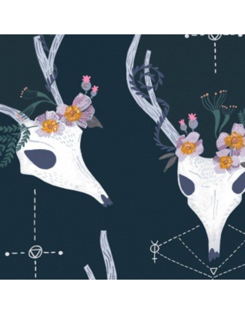 Rae Ritchie Magik, Deer in Phantom, Fabric Half-Yards STELLA-SRR875