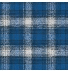 Robert Kaufman Yarn Dyed Cotton Flannel, Mammoth Flannel in Blue, Fabric Half-Yards SRKF-13931-4