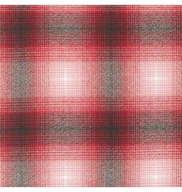 Robert Kaufman Yarn Dyed Cotton Flannel, Mammoth Flannel in Red, Fabric Half-Yards SRKF-14899-3