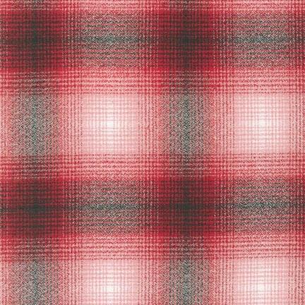 Robert Kaufman Yarn Dyed Cotton Flannel, Mammoth Flannel in Red, Fabric Half-Yards SRKF-14899-3