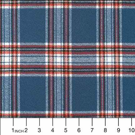 Robert Kaufman Yarn Dyed Cotton Flannel, Mammoth Flannel in Americana, Fabric Half-Yards SRKF-16420-202