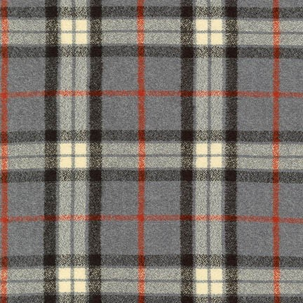 Robert Kaufman Yarn Dyed Cotton Flannel, Mammoth Flannel in Light Grey, Fabric Half-Yards SRKF-14884-12