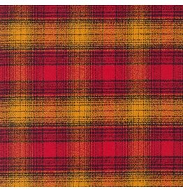 Robert Kaufman Yarn Dyed Cotton Flannel, Mammoth Flannel in Cayenne, Fabric Half-Yards SRKF-15604-115