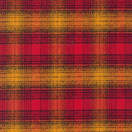 Robert Kaufman Yarn Dyed Cotton Flannel, Mammoth Flannel in Cayenne, Fabric Half-Yards SRKF-15604-115