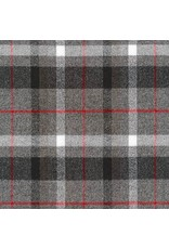 Robert Kaufman Yarn Dyed Cotton Flannel, Mammoth Flannel in Smoke, Fabric Half-Yards SRKF-16423-293