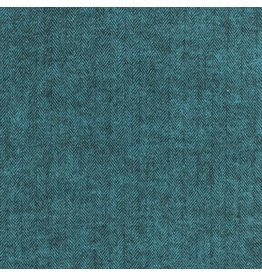 Robert Kaufman Yarn Dyed Cotton Flannel, Shetland Flannel in Herringbone Ocean, Fabric Half-Yards SRKF-13936-59