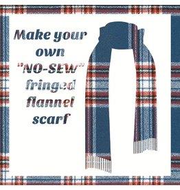 Make a Flannel Scarf, Americana Mammoth Plaid