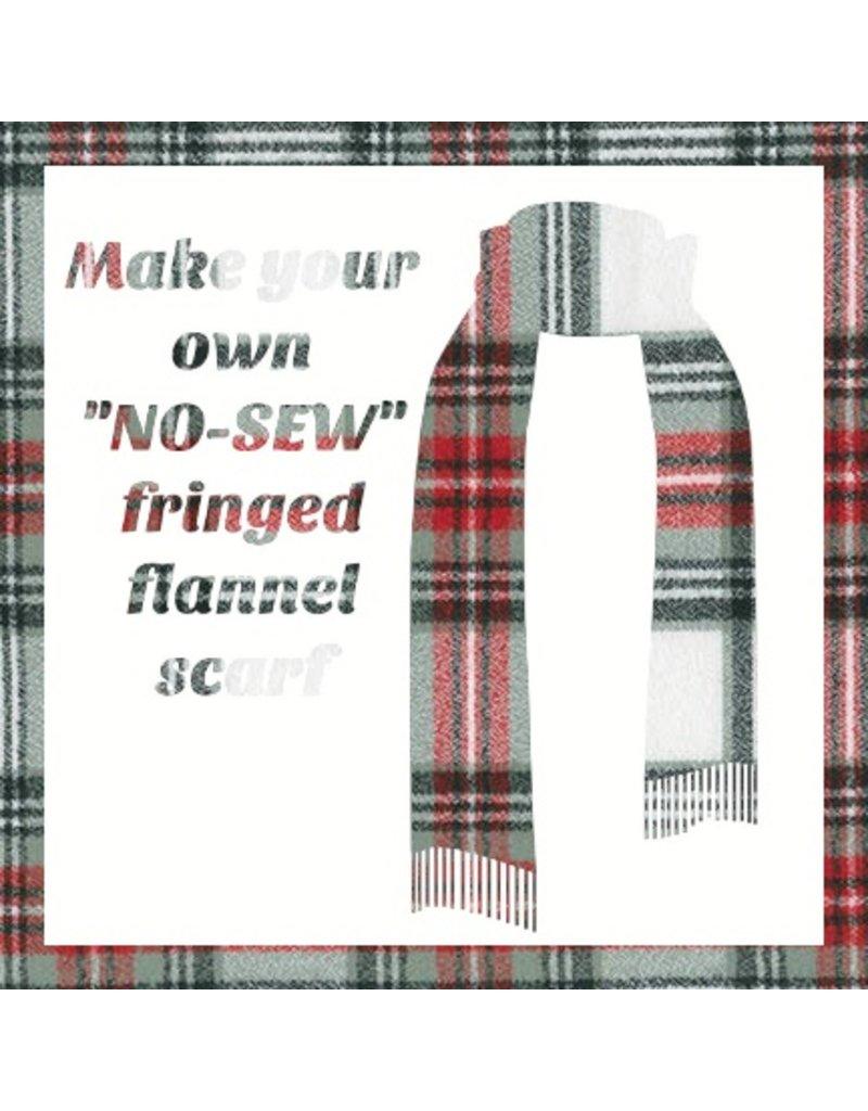 Make a Flannel Scarf, Country Mammoth Plaid
