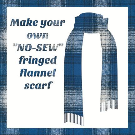 Make a Flannel Scarf, Blue Mammoth Plaid