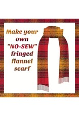 Make a Flannel Scarf, Cayenne Mammoth Plaid