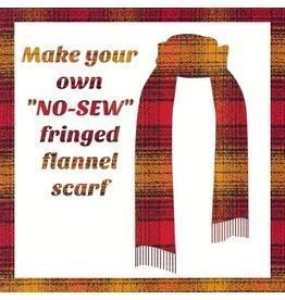 Make a Flannel Scarf, Cayenne Mammoth Plaid