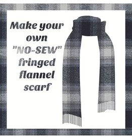 Make a Flannel Scarf, Dark Grey Mammoth Plaid