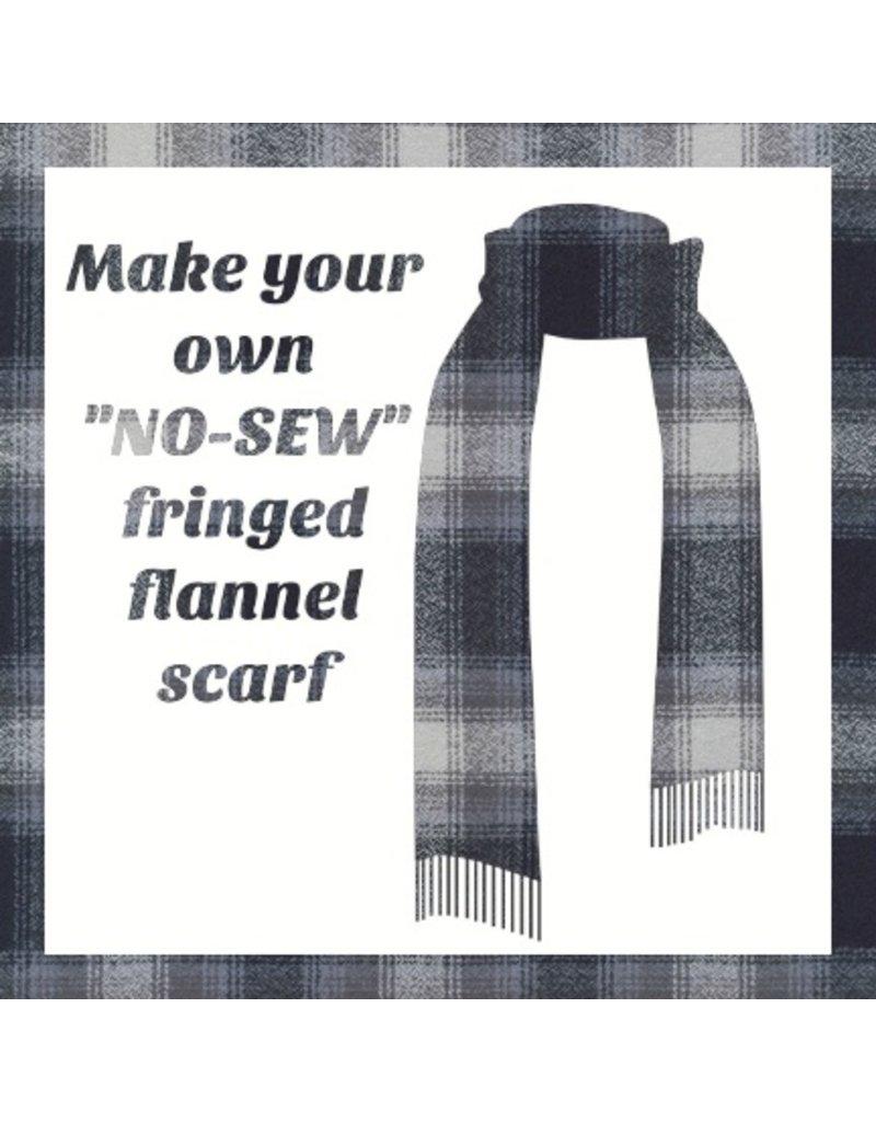 Make a Flannel Scarf, Dark Grey Mammoth Plaid