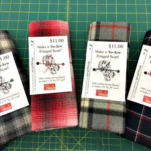Make a Flannel Scarf, Red Mammoth Plaid
