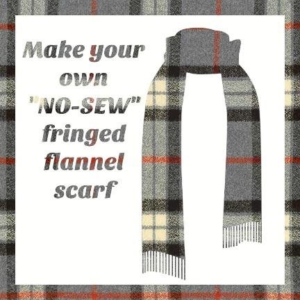 Make a Flannel Scarf, Light Grey Mammoth Plaid