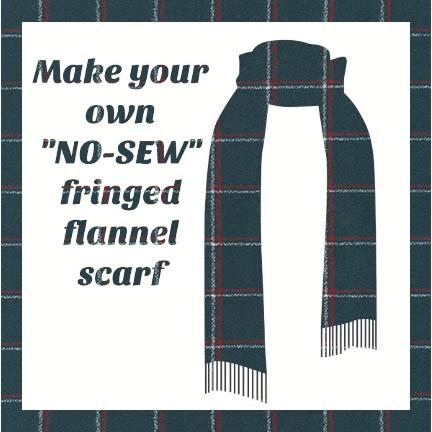 Make a Flannel Scarf, Steel Mammoth Plaid