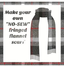 Make a Flannel Scarf, Smoke Mammoth Plaid