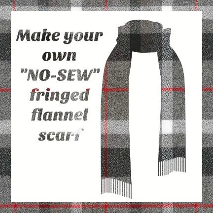 Make a Flannel Scarf, Smoke Mammoth Plaid