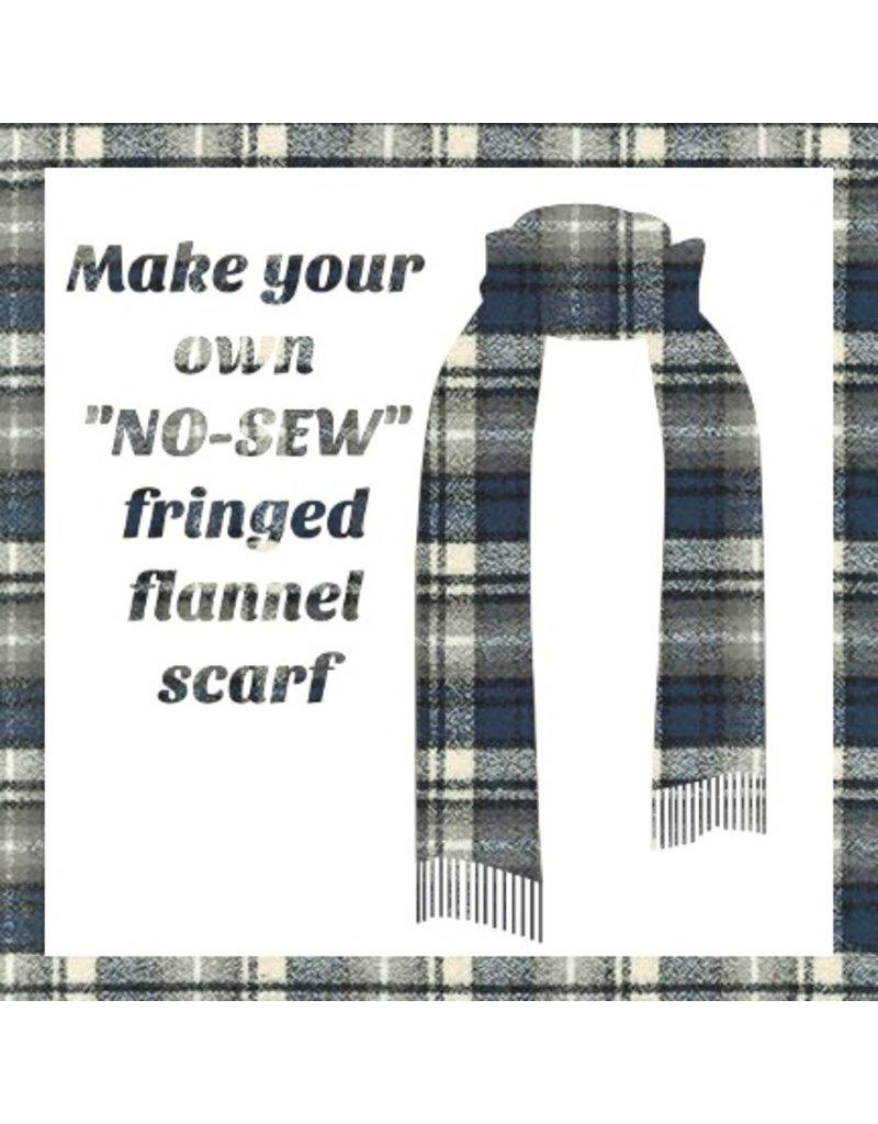 Make a Flannel Scarf, Ash Mammoth Plaid
