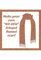 Make a Flannel Scarf, Chestnut Shetland