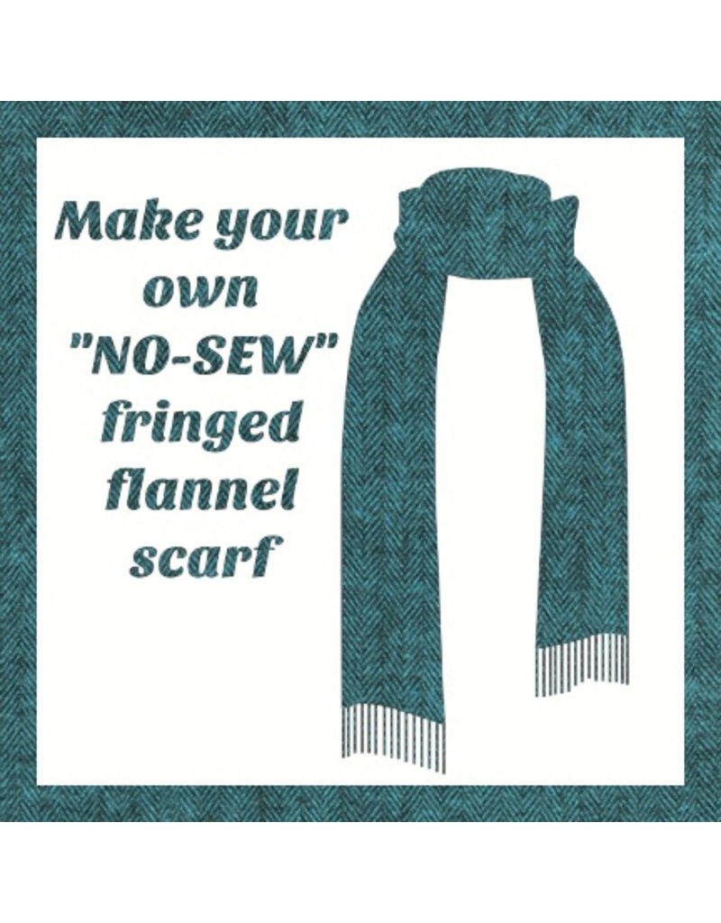 Make a Flannel Scarf, Ocean Shetland