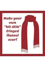 Make a Flannel Scarf, Red Shetland