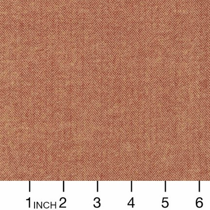 Robert Kaufman Yarn Dyed Cotton Flannel, Shetland Flannel, Herringbone in Chestnut, Fabric Half-Yards