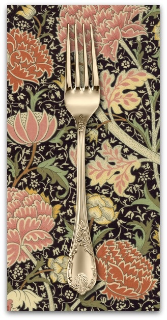 PD's William Morris Collection William Morris 2017, Cray in Ebony, Dinner Napkin