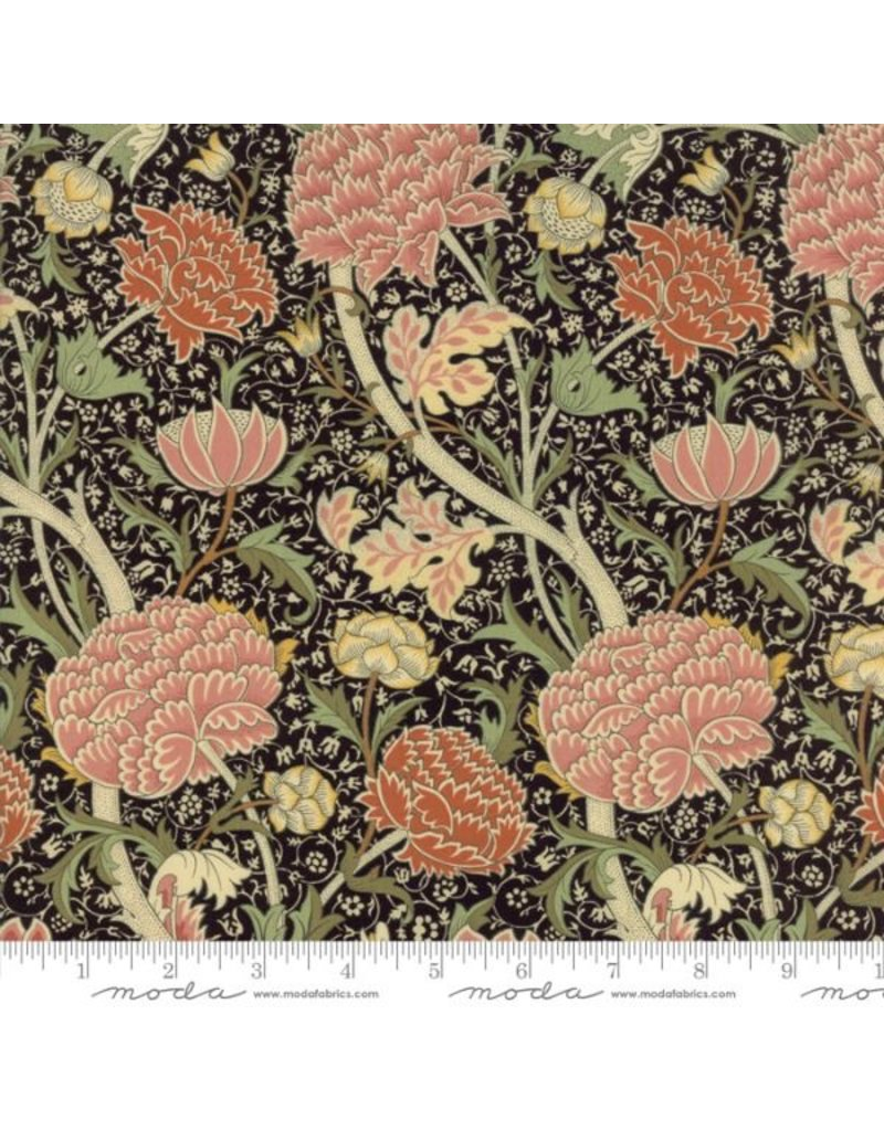 William Morris William Morris 2017, Cray in Ebony, Fabric Half-Yards 7300 19