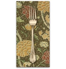 PD's William Morris Collection William Morris 2017, Cray in Sepia, Dinner Napkin