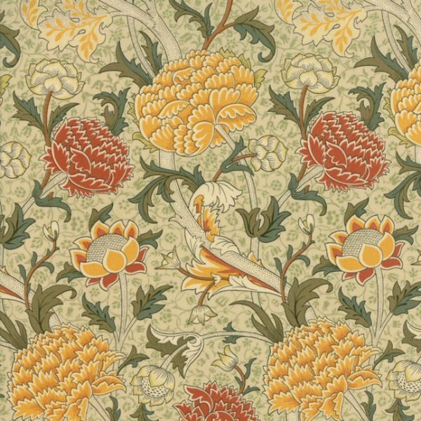 PD's William Morris Collection William Morris 2017, Cray in Parchment, Dinner Napkin