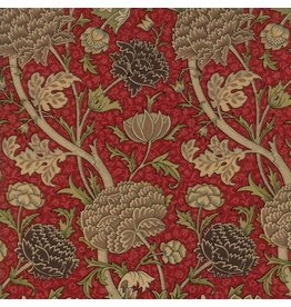 William Morris William Morris 2017, Cray in Garnet, Fabric Half-Yards 7300 17