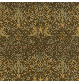 William Morris William Morris 2017, Dove and Rose in Sepia, Fabric Half-Yards 7301 13