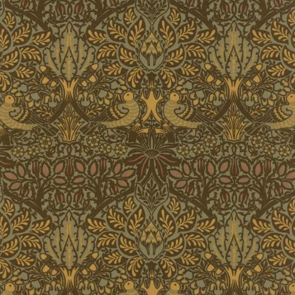 William Morris William Morris 2017, Dove and Rose in Sepia, Fabric Half-Yards 7301 13
