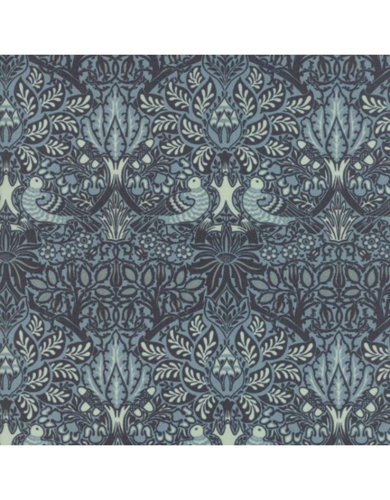 William Morris William Morris 2017, Dove and Rose in Indigo, Fabric Half-Yards 7301 21