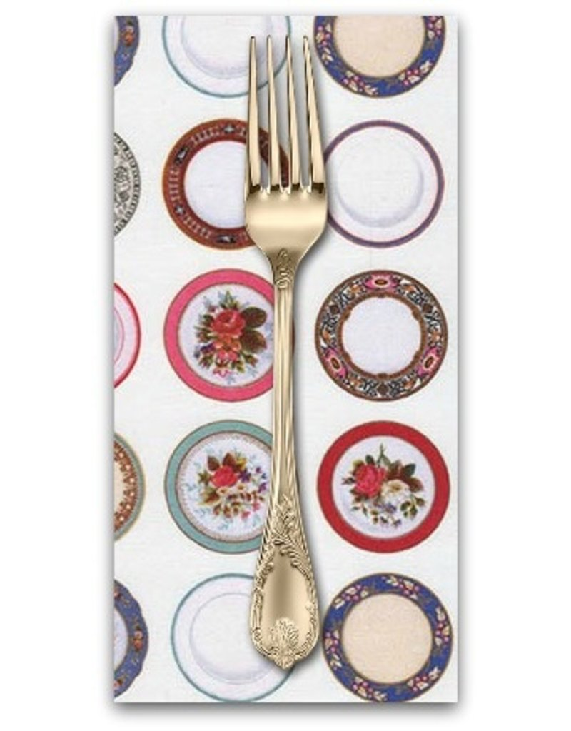 PD's Robert Kaufman Collection Porcelain, Tea Time in White, Dinner Napkin